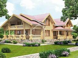 Ecological clean house from Arkhangelsk pine 250-500 sq. m