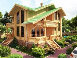 Ecological clean house from Arkhangelsk pine 250-500 sq. m - photo 2
