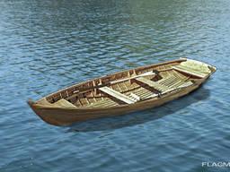 Fan-der-Flit wooden rowboat