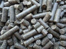 Pellets from sunflower husk