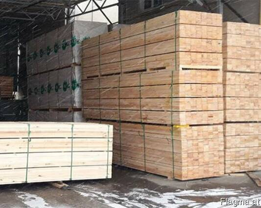 Square-sawn timber of any section, брус, сосна